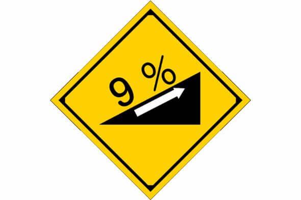 道路標識;傾斜